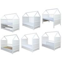 Zīdaiņu - bērnu gultiņa - transformeris 140 x 70 cm