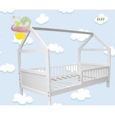 Bērnu gulta - mājiņa ar barjeru 160 x 70 cm