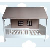 Koka gultiņa - namiņš 140 x 70 cm